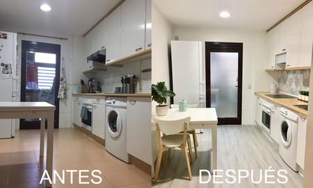 """El Antes y Después de una cocina tras una """"reforma express"""" de Decoryver"""