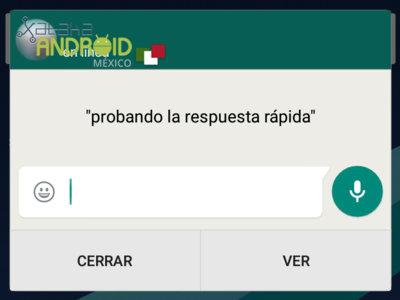WhatsApp beta agrega la opción de respuesta rápida junto a la selección multiple de contactos