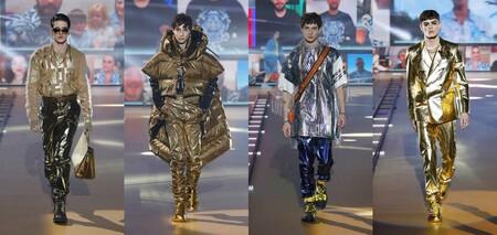 De Metal Maquillaje Color Y Efecto Glitch La Coleccion Fall Winter De Dolce Gabbana Fue Mas Digital De La Temporada 2