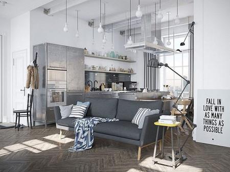 Apartamento industrial: cuando la luz es lo que de verdad importa