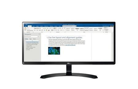 Monitor de 29 pulgadas UltraWide LG 29UM59A, con resolución FullHD, por sólo 189,99 euros y envío gratis