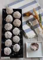 Trufas de chocolate, fresa y coco para el Día de la Madre