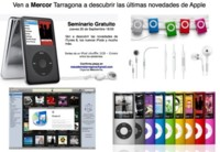 Seminario iPod + iTunes en Mercor Tarragona, el 25 de Septiembre