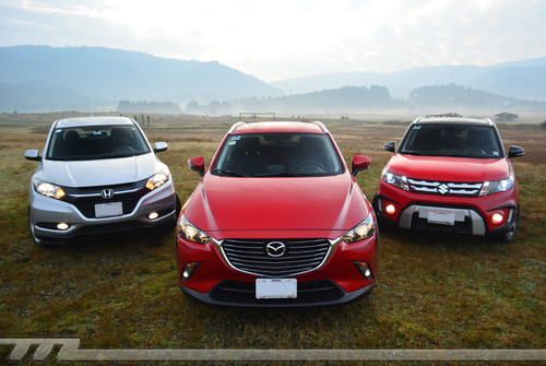Comparativa: Mazda CX-3 vs Suzuki Vitara vs Honda HR-V (I)