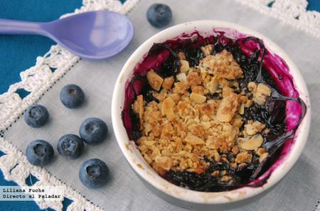 Crumble de arándanos: receta fácil para un postre perfecto de verano