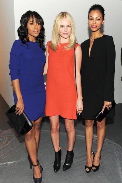 Kate Bosworth, Zoe Saldana y Kerry Washington, en el front row de Calvin Klein Otoño-Invierno 2011-2011