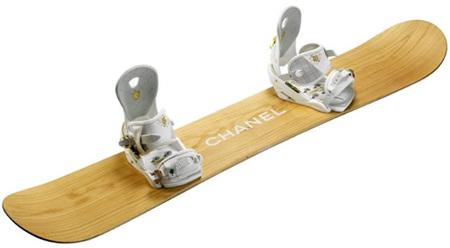 Los snowboard firmados Chanel