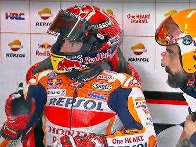 ¡Magistral! Así ha trolleado Marc Márquez a Andrea Iannone en la Q2 para que no le cogiera rueda