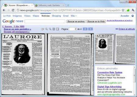 Google da por finalizado el proyecto para escanear periódicos