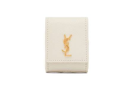Saint Laurent Ysl Airpod Case Logo Leather Accessory 1