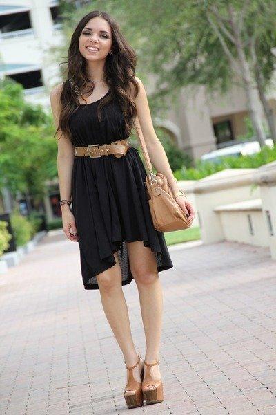 vestido negro streetstylñe 2