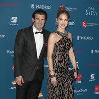 Luis Figo y Helen Swedin