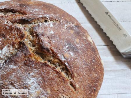 Pan cateto con masa madre, receta de hogaza de pan casero