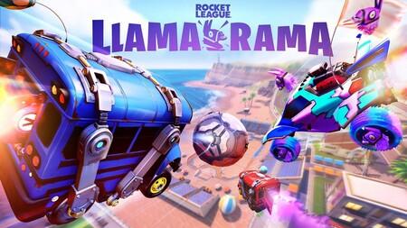 El autobús de Fortnite quemará ruedas en las pistas de Rocket League gracias al evento Llama-Rama