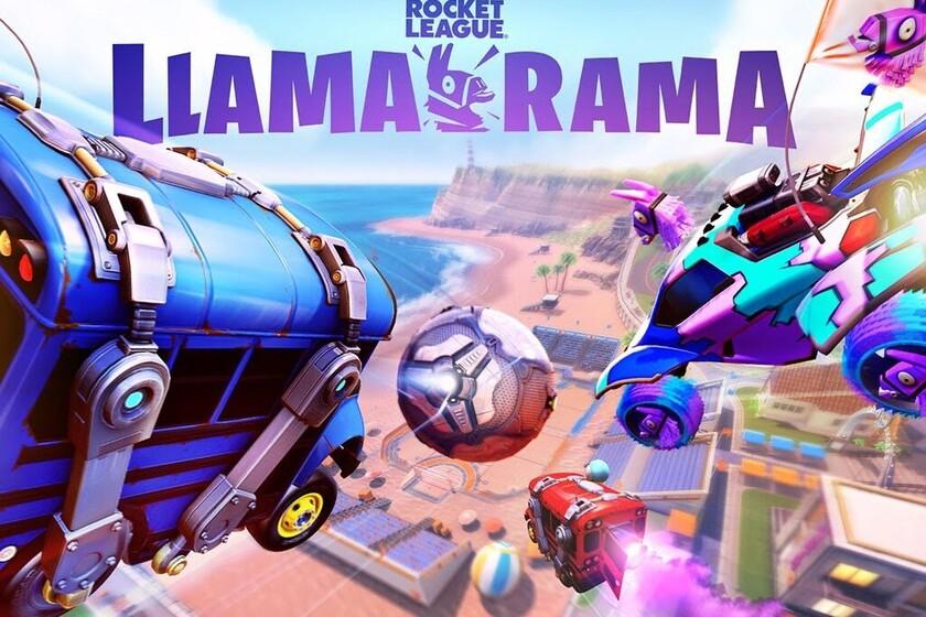 El autobús de Fortnite quema ruedas en las pistas de Rocket League en este nuevo vídeo de Llama-rama