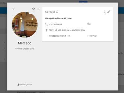 Los contactos de Google se nutrirán de información de Google Maps