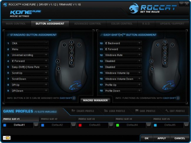 Roccat Kone Pure software