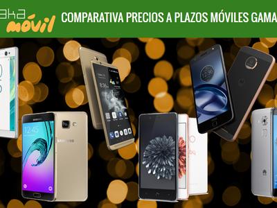 Smartphones de gama media: comparativa de precios definitivos con pago a plazos en operadores móviles