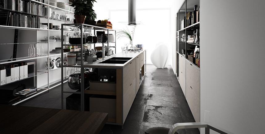 Meccanica, un sistema de almacenaje muy versátil y minimalista