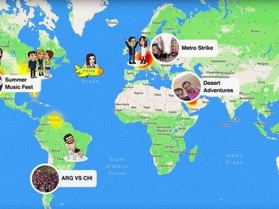 Snap Map, la nueva función de mapas de Snapchat le habría costado más de $250 millones de dólares