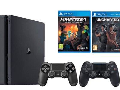 Con el pack PS4 Slim de 500 Gb más dos juegos y DualShock 4 extra, tendrás todo lo necesario para empezar a jugar por 339 euros en Mediamarkt