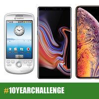 10YearChallenge, así han cambiado los móviles de las principales marcas en una década