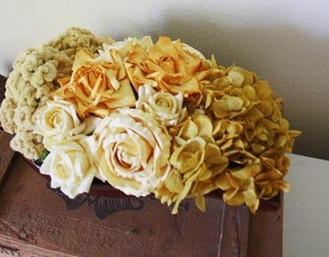 centros con flores secas