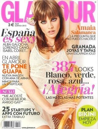 A Amaia Salamanca le han alargado la cara cosa mala en Glamour, ¿no?