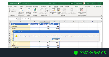 Cómo bloquear columnas, filas y celdas en Excel