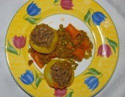 Patatas rellenas con carne picada