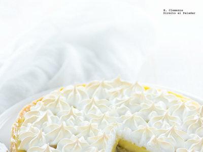 Banana cream pie. Receta americana de postre