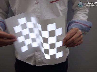 Este proyector puede colocar imágenes que encajan perfectamente en objetos en movimiento