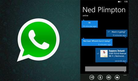 WhatsApp para Windows Phone se actualiza y arregla varios de sus principales errores
