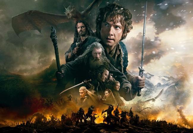 Imagen con los protagonistas de El Hobbit