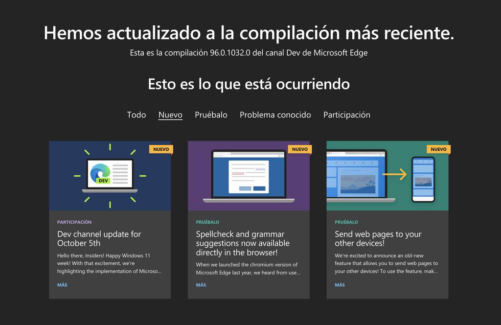 Microsoft actualiza Edge en el Canal Dev: llega la escritura por voz en páginas web, mejoras en los perfiles y más