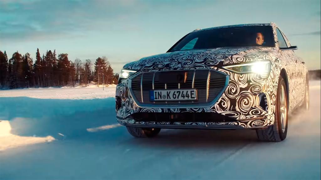 Bailando sobre la nieve: el segundo coche eléctrico de Audi, el e-tron Sportback, asoma por primera vez en vídeo
