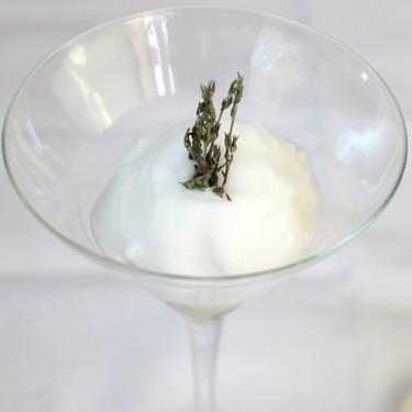 Sorbete de tomillo, la receta de Floren Domezáin