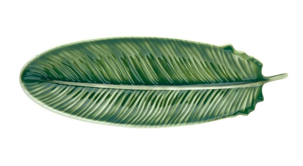 Fuente con forma de hoja de melamina selva El Corte Inglés