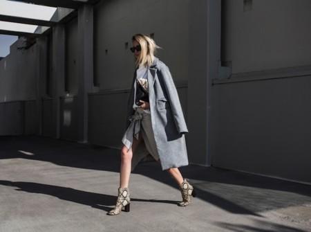 Isabel Marant Python Boots Grey Coat Oracle Fox 3