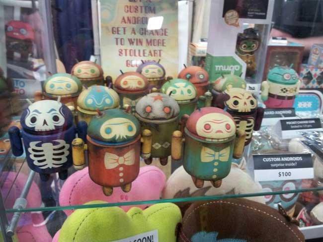 Androids zombis a la venta en la Comic Con de San Diego