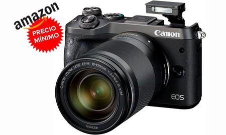 Amazon te deja una sin espejo como la Canon EOS M6 con objetivo 18-150mm a su precio más bajo hasta la fecha: 599 euros con 200 de rebaja