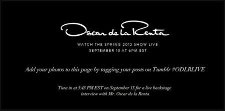 Oscar de la Renta se apoya en Tumblr para lanzar su colección de primavera