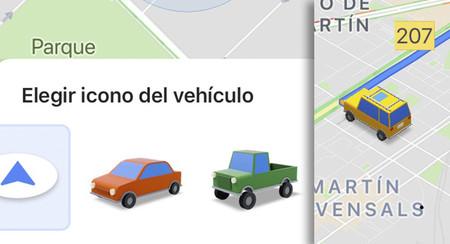Google Maps cambia la flecha por el coche que quieras y prepara los planes en grupo para Android