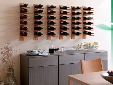 Crea tu propia bodega en casa botelleros para todos los - Muebles para poner botellas de vino ...