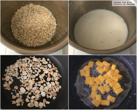 Paso A Paso Porridge Con Mango Caramelizado