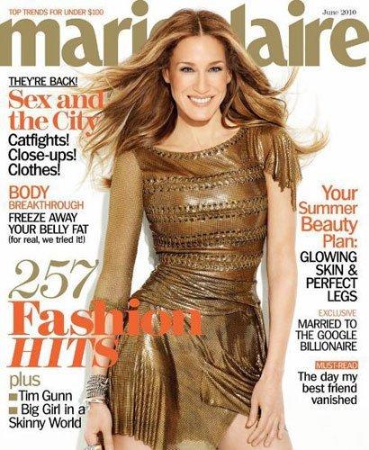 Las chicas de Sexo en Nueva York guapísimas enla revista Marie Claire junio 2010