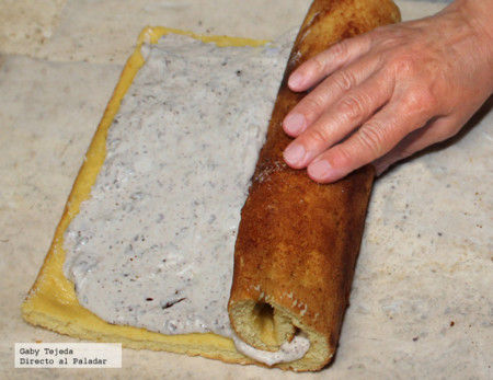 Relleno d queso, plátano y chocolate c m d a