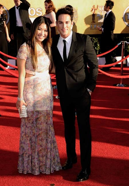Jenna Ushkowitz y Michael Trevino Screen Actors Guild Awards