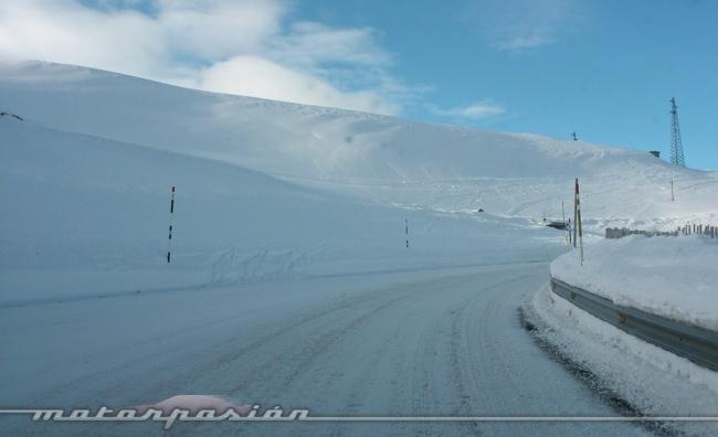 Audi winter driving experience llegando a Soldeu 01