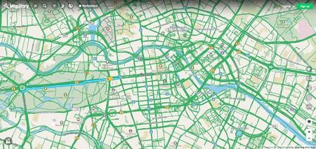 Captura de pantalla de Mapillary